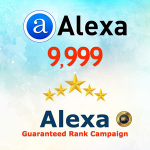 Alexa Guaranteed Ranking Boost 10K