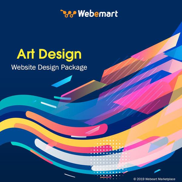 Art Website Design Package Webemart Marketplace
