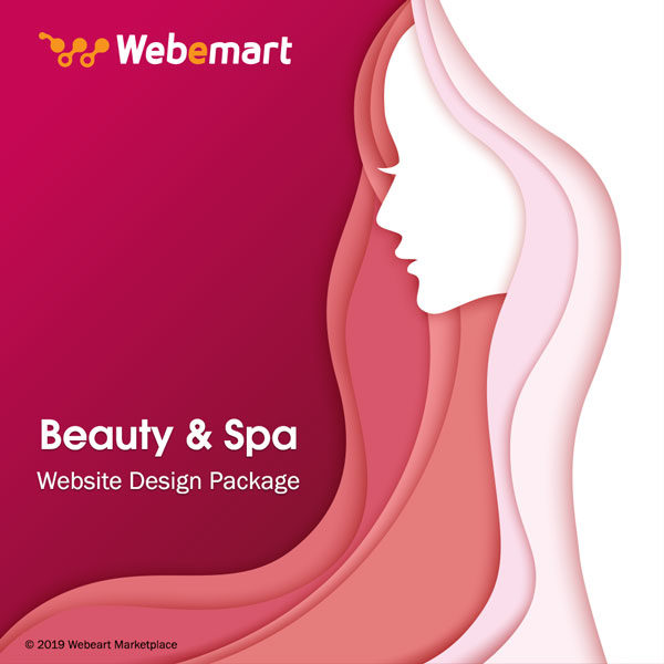 Beauty Studio Website Design Package Webemart Marketplace