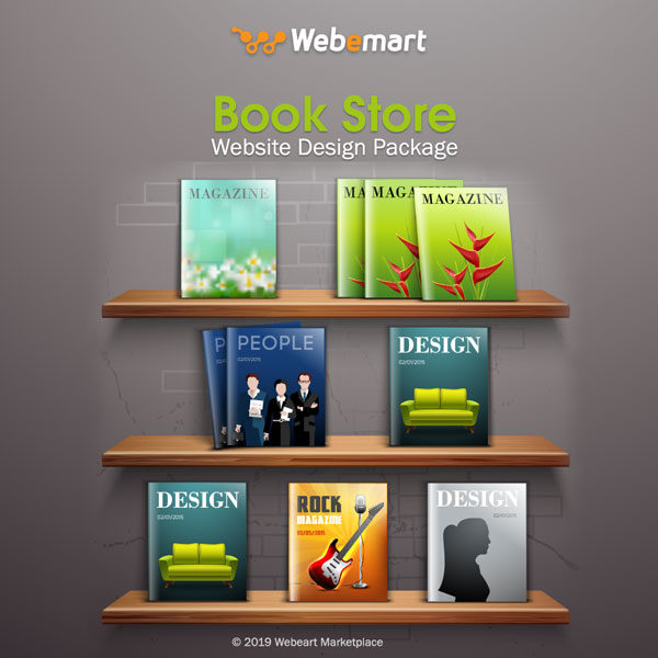 Book Store Website Design Package Webemart Marketplace