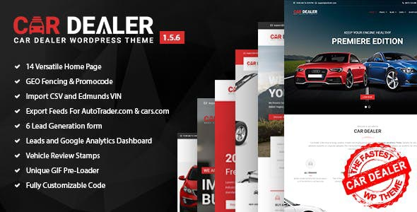 Car Dealer - Automotive Responsive WordPress Theme