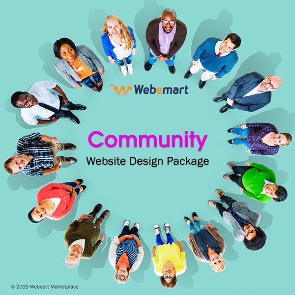 Community Website Design Package Webemart Marketplace