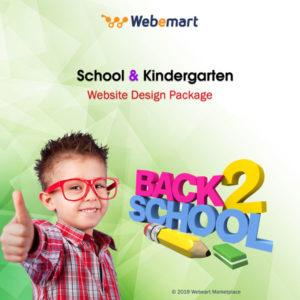 School & Kindergarten Website Design Package Webemart Marketplace