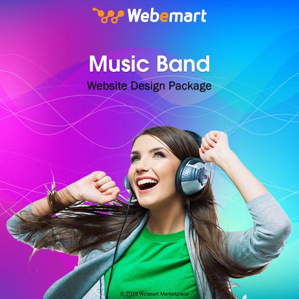 Music Band Website Design Package Webemart Marketplace
