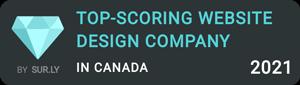 TOP-SCORING WEBSITE DESIGN COMPANY IN CANADA